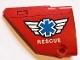 Part No: 64394pb016  Name: Technic, Panel Fairing #13 Large Short Smooth, Side A with EMT Star of Life and 'RESCUE' Pattern (Sticker) - Set 8068