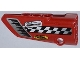 Part No: 64683pb005  Name: Technic, Panel Fairing # 3 Small Smooth Long, Side A with Air Intake, Checkered Stripe and Sponsor Logos Pattern (Sticker) - Set 42011