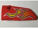 Part No: 64683pb035  Name: Technic, Panel Fairing # 3 Small Smooth Long, Side A with Flames Pattern (Sticker) - Set 42005