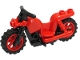 Part No: 65521c03  Name: Motorcycle Chopper with Black Frame, Red Wheels and Black Handlebars