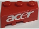 Part No: 6564pb21  Name: Wedge 3 x 2 Right with White 'ACER' on Red Background Pattern (Sticker) - Set 8157
