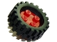 Part No: 7039c04  Name: Wheel with 4 Studs with Axle with Black Tire 30 x 10.5 Offset Tread (7039 / 2346)