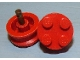 Part No: 7039d  Name: Wheel with 4 Studs and Axle without Inner Side Supports (Lego Logo Open O Style)
