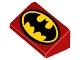 Part No: 85984pb154  Name: Slope 30 1 x 2 x 2/3 with Batman Logo with Black Border Pattern
