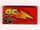 Part No: 87079pb0031R  Name: Tile 2 x 4 with Lightning, Exhaust Pipes and Offset '95' Pattern Model Right Side