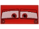 Part No: 87079pb0055  Name: Tile 2 x 4 with Windscreen with Red Eyes on White Background Pattern