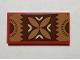 Part No: 87079pb0728  Name: Tile 2 x 4 with Reddish Brown, Tan and Nougat Polynesian Design Mat / Rug Pattern (Sticker) - Set 41150