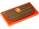 Part No: 87079pb0826  Name: Tile 2 x 4 with Grille and Fire Logo Pattern