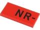 Part No: 87079pb0938  Name: Tile 2 x 4 with Black 'NR-' Pattern (Sticker) - Set 40450