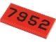 Part No: 87079pb0939  Name: Tile 2 x 4 with Black '7952' Pattern (Sticker) - Set 40450