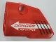 Part No: 87080pb060  Name: Technic, Panel Fairing # 2 Small Smooth Short, Side A with 'DANGER AIR INTAKE' and White Arrow Pattern (Sticker) - Set 42076