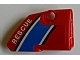 Part No: 87086pb004  Name: Technic, Panel Fairing # 2 Small Smooth Short, Side B With 'RESCUE' Pattern (Sticker) - Set 8068