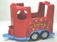 Part No: 87657c02pb01  Name: Duplo Horse Trailer with Medium Blue Base and Stars and 'CIRCUS' Pattern
