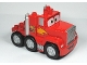 Part No: 89411pb01c01  Name: Duplo Cars Truck Semi-Tractor with '95' and Lightning Bolt Pattern (Mack)