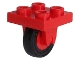 Part No: 8c01  Name: Plate, Modified 2 x 2 with Wheel Holder Bottom and Red Wheel with Black Tire 14mm D. x 4mm Smooth Small Single (8 / 3464 / 3139)