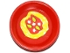 Part No: 93082fpb002  Name: Friends Accessories Dish, Round with Pasta, Sauce, Mushrooms and Leaves Pattern (Sticker) - Set 41034