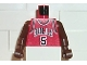 Part No: 973bpb151c01  Name: Torso NBA Chicago Bulls #5 Pattern / Brown NBA Arms