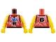 Part No: 973bpb188c01  Name: Torso NBA Player Number 6 Pattern / Yellow NBA Arms