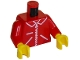 Part No: 973p13c01  Name: Torso Zipper Straight on Jacket Pattern / Red Arms / Yellow Hands
