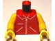 Part No: 973p13c02  Name: Torso Zipper Straight on Jacket Pattern / Yellow Arms / Yellow Hands