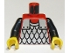 Part No: 973p41c01  Name: Torso Castle Scale Mail Pattern / Black Arms / Yellow Hands