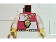 Part No: 973p4ec01  Name: Torso Castle Royal Knights Lion Head and Necklace Pattern / White Arms / Yellow Hands