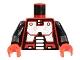 Part No: 973p63c01  Name: Torso Space Robot Pattern (Spyrius) / Black Arms / Red Hands