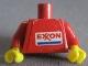 Part No: 973pb0034sc01  Name: Torso Exxon Logo Pattern (Sticker) / Red Arms / Yellow Hands
