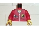 Part No: 973pb0114c01  Name: Torso Wrench Logo on Zippered Jacket with Truck Pattern / Red Arms / Yellow Hands