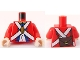 Part No: 973pb0527c02  Name: Torso Pirate Imperial Soldier Uniform with Knapsack on Back Pattern / Red Arms / Light Flesh Hands