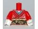 Part No: 973pb0846c01  Name: Torso Kimono Pattern / Red Arms / White Hands