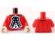 Part No: 973pb0880c01  Name: Torso PotC Officer's Uniform with White Vest and Gold Buttons Pattern (King George) / Red Arms / Light Nougat Hands