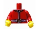 Part No: 973pb0927c01  Name: Torso Royal Guard Uniform with Gold Buttons and White Belt Pattern / Red Arms / Yellow Hands