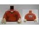 Part No: 973pb1054c01  Name: Torso Shirt with Open Collar and Pocket Pattern - LEGO Logo on Back / Red Arms / Light Flesh Hands
