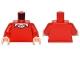Part No: 973pb2250c01  Name: Torso Batman Sweater V-Neck over Button Down White Shirt Pattern / Red Arms / Light Flesh Hands