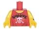 Part No: 973pb2799c01  Name: Torso Sleeveless Top with White Skull, Black Ninjago Logogram 'METAL' Pattern / Yellow Arm Left with Dragon Tattoo Pattern / Yellow Arm Right / Yellow Hands
