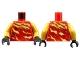 Part No: 973pb3585c01  Name: Torso Ninjago Robe with Pearl Gold Tornado Flashings Pattern / Pearl Gold Arms / Black Hands