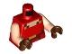 Part No: 973pb3994c01  Name: Torso Pixelated Light Nougat, Dark Red and Gold Neck, Dark Red and Gold Belt Pattern / Light Nougat Arms / Reddish Brown Hands