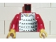 Part No: 973px16c02  Name: Torso Castle Ninja Armor Plate Mail Pattern / Red Arms / Yellow Hands