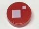 Part No: 98138pb072  Name: Tile, Round 1 x 1 with 2 White Squares Pattern (BrickHeadz Standard Eye)