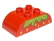 Part No: 98223pb031  Name: Duplo, Brick 2 x 4 Curved Top with Strawberry Pattern