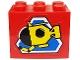 Part No: BA027pb01  Name: Stickered Assembly 3 x 2 x 2 with Divers Pattern (Sticker) - Set 6560 - 2 Bricks 2 x 3