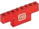 Part No: BA042pb01  Name: Stickered Assembly 8 x 1 x 2 with 'DB' Pattern (Sticker) - Set 7740-1 - 1 Brick 1 x 8, 1 Brick 1 x 4