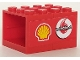 Part No: BA109pb02L  Name: Stickered Assembly 4 x 3 x 2 with Shell and Vodafone Logos Pattern Model Left Side (Sticker) - Set 8672 - 2 Container, Cupboard 2 x 3 x 2