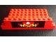 Part No: BA196pb01  Name: Stickered Assembly 12 x 6 x 2 1/3 with Wide Fire Pattern (Sticker) - Set 6382 - 3 Brick 1 x 6, 1 Brick 1 x 4, 1 Plate 6 x 10