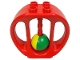 Part No: bab002  Name: Duplo Rattle Oval with Yellow/Green Wheel