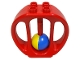 Part No: bab010  Name: Duplo Rattle Oval with Blue/Yellow Wheel