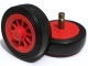 Part No: bb0019c01  Name: Wheel Spoked 2 x 2 with Stud, with Black Tire Smooth - Small (bb19 / 132old)