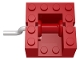 Part No: bb0067  Name: String Reel Winch 4 x 4 x 2 with Metal Handle (Red Drum)