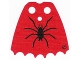 Part No: bb0190pb02  Name: Minifigure, Cape Cloth, Scalloped 6 Points with Black Spider Pattern